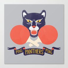 Ping Pong Panthers Canvas Print
