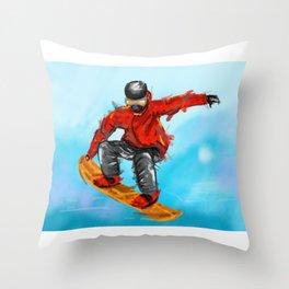 snowborder1 Throw Pillow