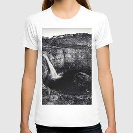 Hidden Waterfall Black and White T-shirt