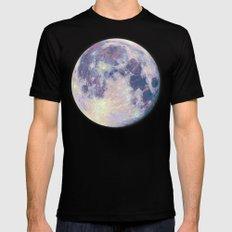 Blue moon MEDIUM Mens Fitted Tee Black