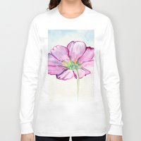 transparent Long Sleeve T-shirts featuring Transparent Cosmos by Kate Havekost Fine Art