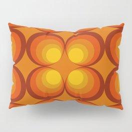 70s Circle Design - Orange Background Pillow Sham