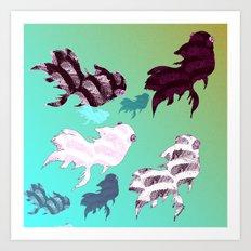 Dancing Fishes Art Print