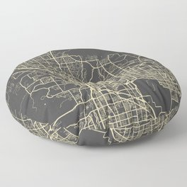 Tucson Map yellow Floor Pillow