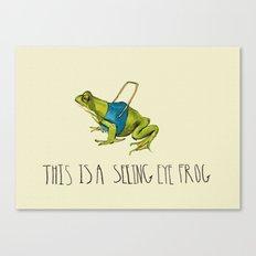 Seeing Eye Frog Canvas Print