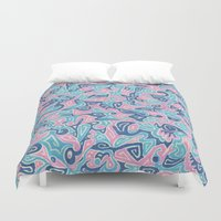 sylveon Duvet Covers featuring Sylvia by Leah Moloney