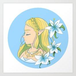 Silent Princess Zelda Art Print