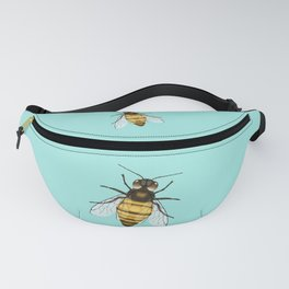 Bee pencil drawing color version Fanny Pack