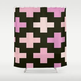 Crosses Pink Pastel Goth Shower Curtain