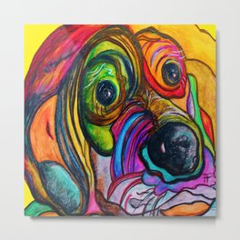 Hound Dog Metal Print