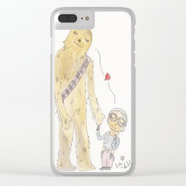 Maz loves Chewie Clear iPhone Case