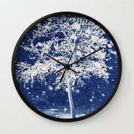Flattened Image of Fallen Tree Wall Clock