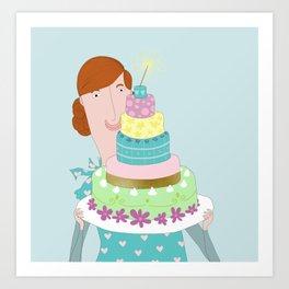 My happycake Art Print
