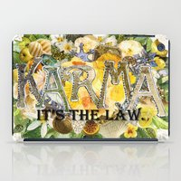 karma iPad Cases featuring Karma by Jenndalyn