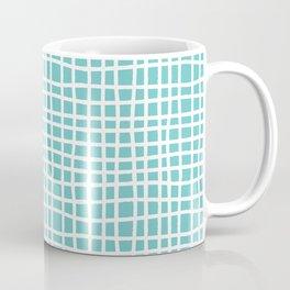 aqua ocean thread random cross hatch lines checker pattern Coffee Mug