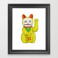 Occupy Lucky Cat Framed Art Print