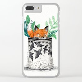 Fox Pot Clear iPhone Case