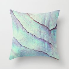 IRIDISCENT SEASHELL MINT by Monika Strigel Throw Pillow