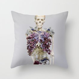 lilac lungs. Throw Pillow