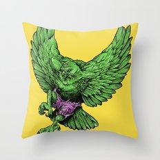 the incredible hawk Throw Pillow