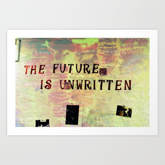 Unwritten... Art Print