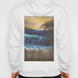 Beach, Tropical Sunset, Waves, by Faye Hoody
