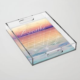 Breathe - Reminder Affirmation Mindful Quote Acrylic Tray