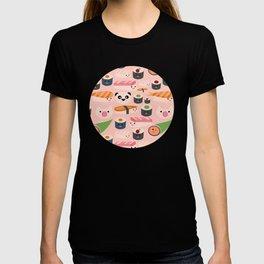 Kawaii sushi light pink T-shirt
