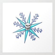Skullflake Art Print