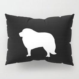Big White Dog Pillow Sham