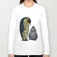film Long Sleeve T-shirts featuring Emperor Penguins by Ben Geiger