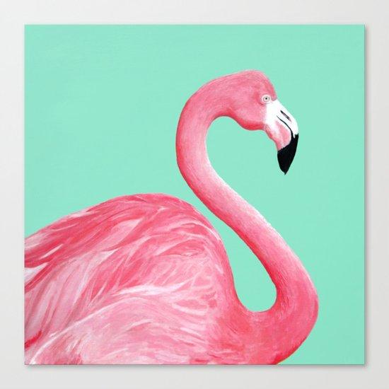 Pink Flamingo Canvas Print by Lorri Leigh Art | Society6