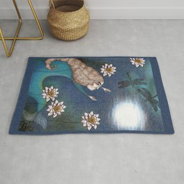The Mermaid's Lake--Catching the Moon Rug
