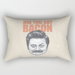 Did you say Bacon? Rectangular Pillow