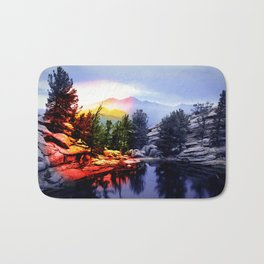 Colorado Flag/Landscape Bath Mat
