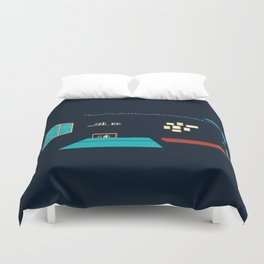 In a rainy day, a place to stay Duvet Cover