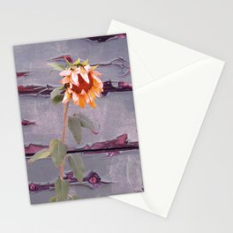 Vintage Sunflower and Wall Stationery Cards