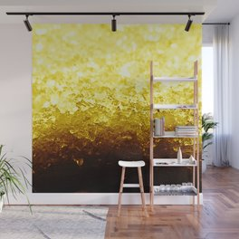Golden Yellow Ombre Crystals Wall Mural