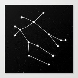 GEMINI (BLACK & WHITE) Canvas Print