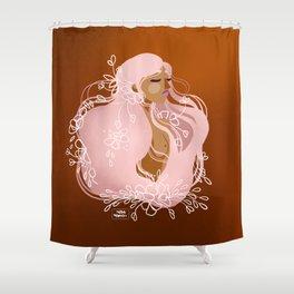 Serenity Flower Girl Shower Curtain