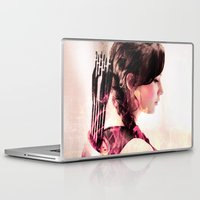 katniss Laptop & iPad Skins featuring katniss ; if he wants me broken by Nicky