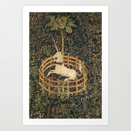 The Unicorn In Captivity Art Print