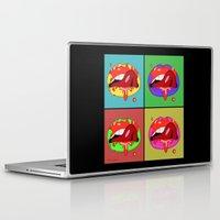 lips Laptop & iPad Skins featuring lips  by mark ashkenazi