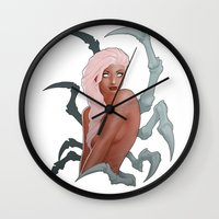 spider Wall Clocks featuring Spider by daimontribe