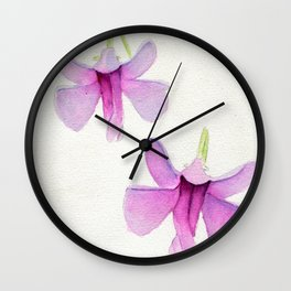 Impatiens To Fly Wall Clock