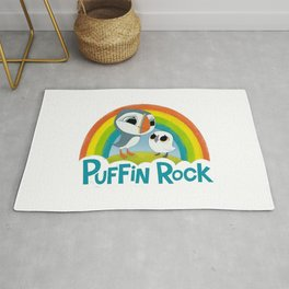 Puffin Rock Logo Rug