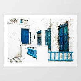 Out of the Blue | Mykonos, Greece Art Print