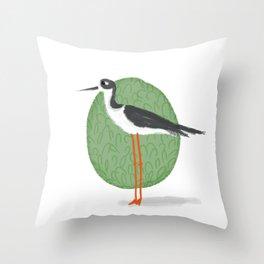 Black-Necked Stilt Throw Pillow