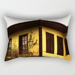 yellow pretty mansion Rectangular Pillow