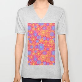 Bright Flowers Extravaganza Unisex V-Neck